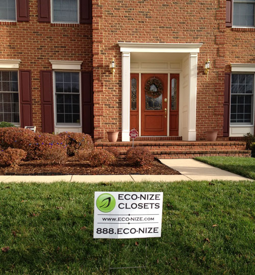 eco-nize sign in my yard