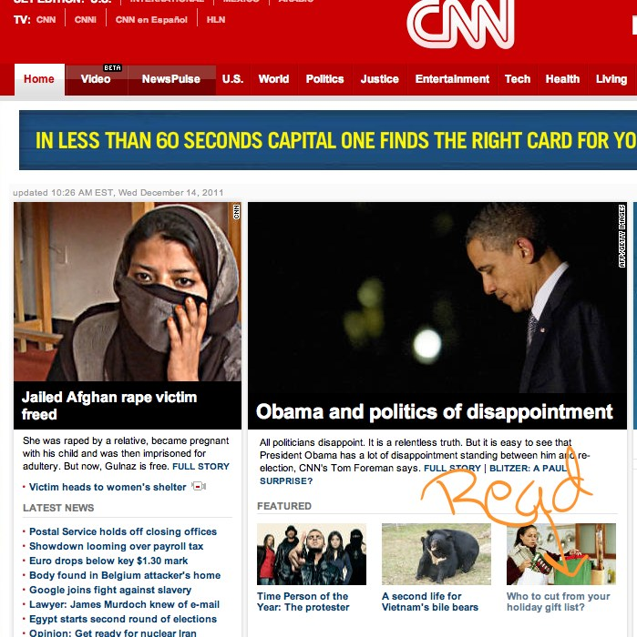 CNN Michele McGraw front page