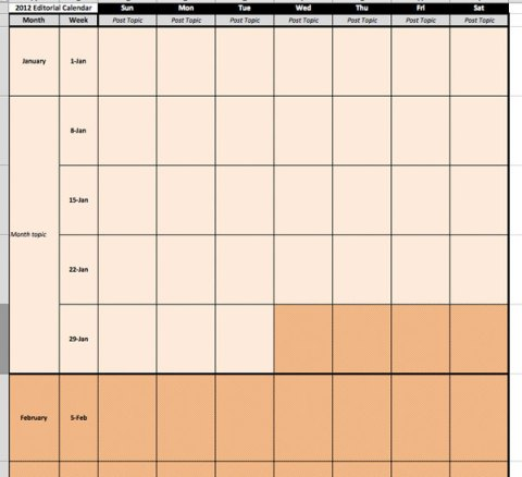 editorial calendar 2012 month view