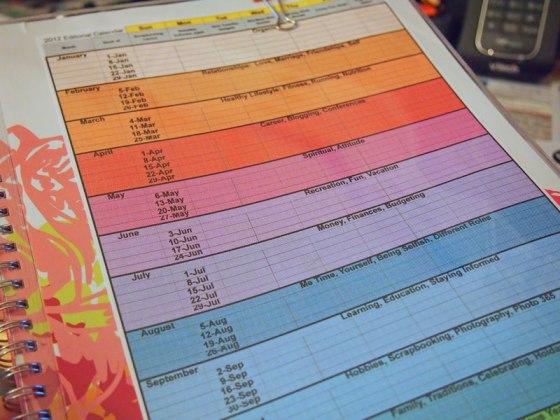 editorial calendare template