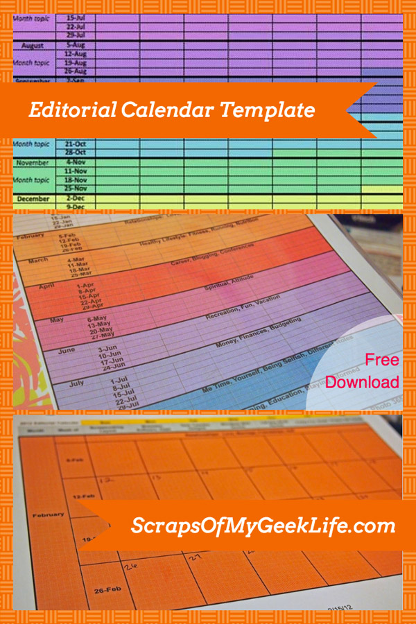 editorial calendar template FREE