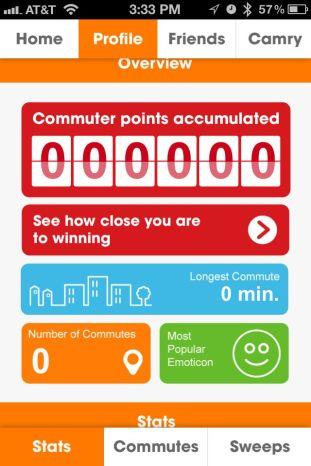 Toyota Camry Commuter app iphone