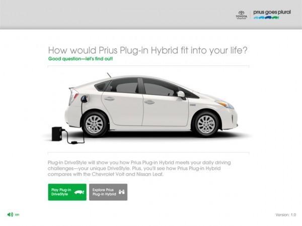Toyota Prius drivestyle ipad app