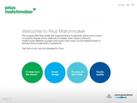 toyota prius matchmaker ipad app