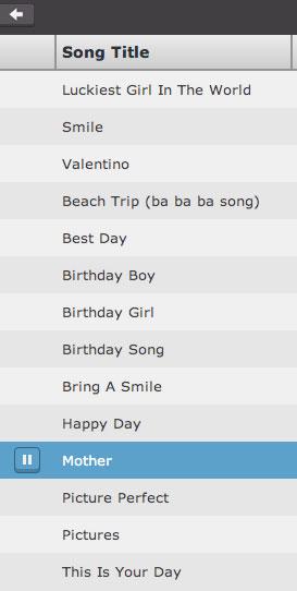 animoto song choices