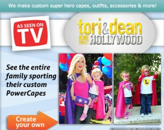 tori spelling kids power capes