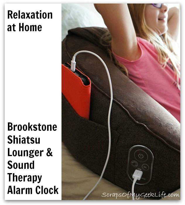brookstone shiatsu bed lounger sounds
