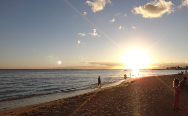 beach sunset shot sony tx20