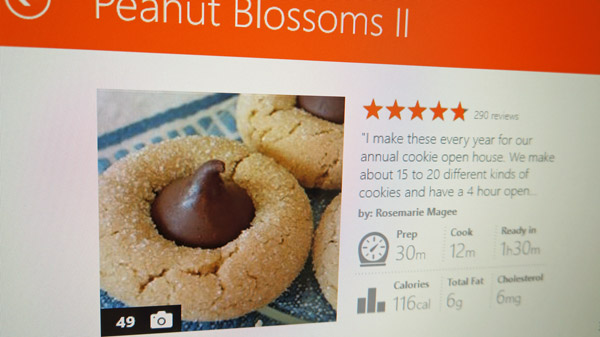 follow holiday cookie recipe on kitchen computer