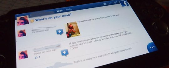check facebook on ps vita