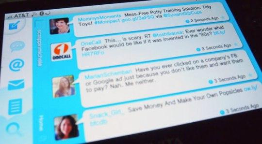 Twitter on PS Vita