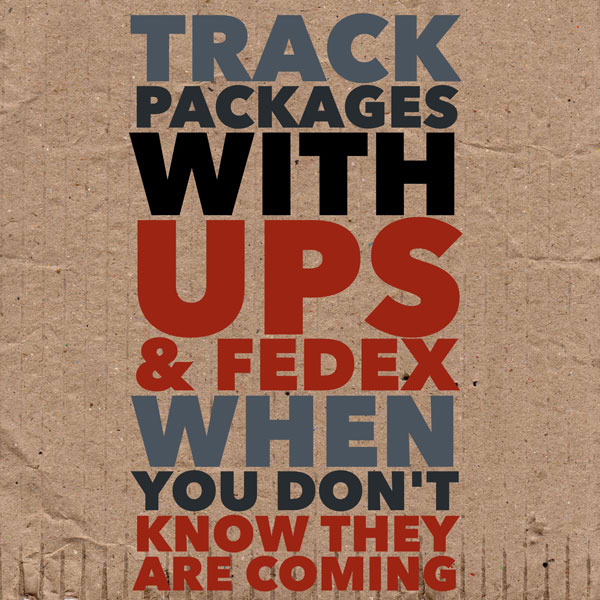 Track Packages From UPS and FedEx When You Don't Know They Are