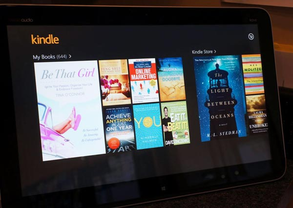 Kindle app on #IntelAIO