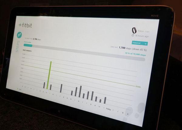 Use Fitbit app on #Intelaio