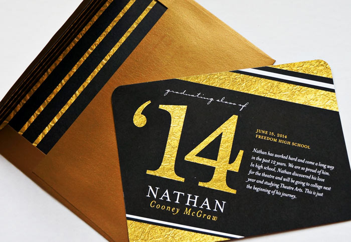 gold envelope with lining