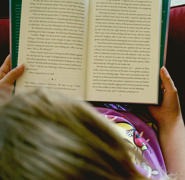 reading books in the summer
