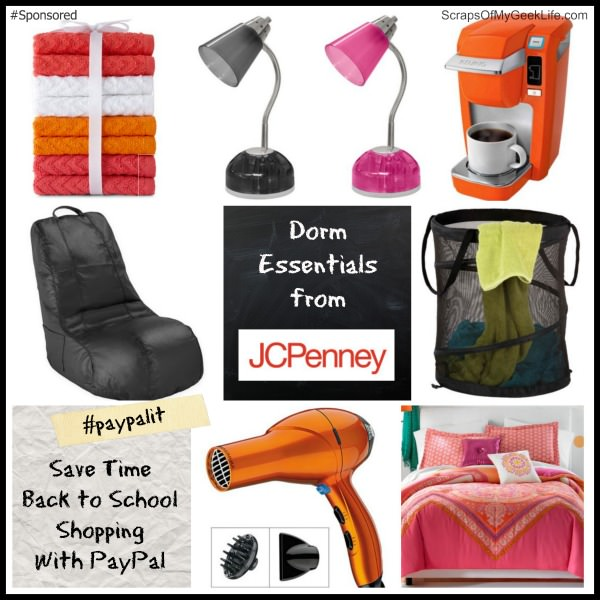 JCPenney Dorm Essentials using PayPal to Save time #paypalit