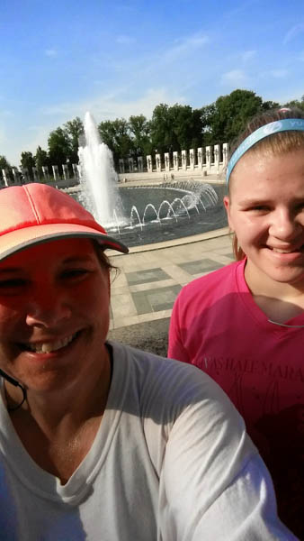 Word War 2 memorial; running in DC