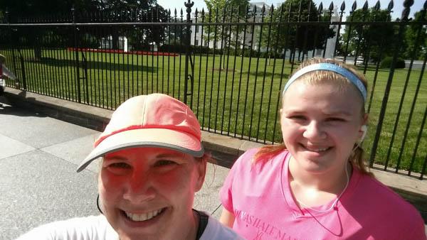 Training for a half marathon in DC.