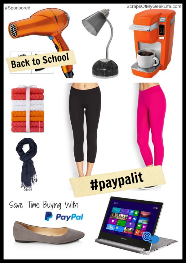 Save time buying back to school clothes and gadgets with PayPal online. #paypalit