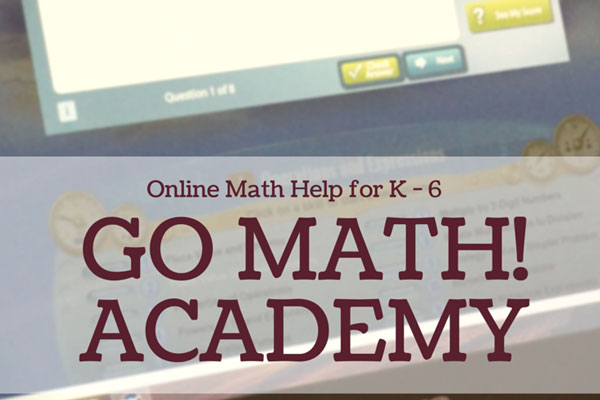 Go Math! Academy offers math help online for kids in K through 6th Grade #HMHAcademy