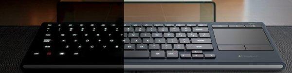 Logitech Illuminated wireless keyboard for college students