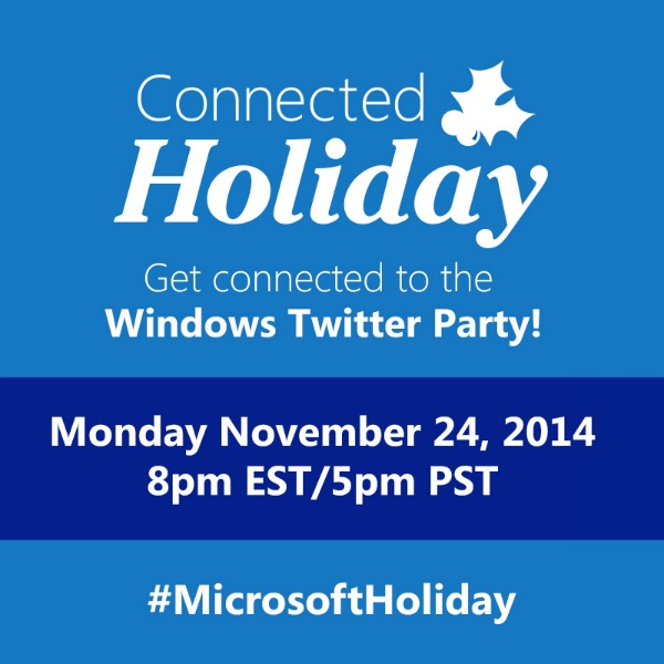 Sponsored Post: Don't miss the Microsoft Holiday Twitter Party #MicrosoftHoliday