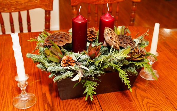 Holiday candle centerpiece from ProPlants