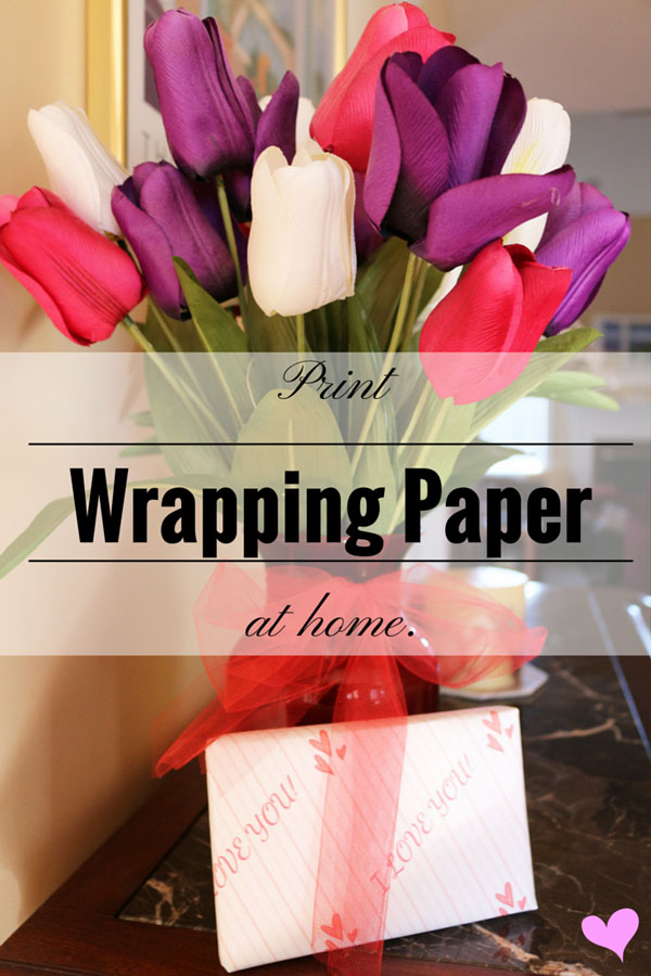 Diy Print Wrapping Paper At Home For Valentine S Day Scraps Of My