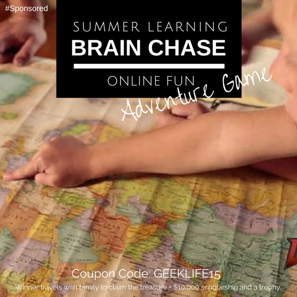 Brain Chase is a 5 week online learning adventure for kids in 2nd through 8th grade. It is a treasure hunt where kids read, write and do math to progress through the adventure. This helps prevent the summer brain drain. The adventure is personalized for each child as they hunt for a golden mechanical treasure. #BrainChase #spon #AdventureLearning #couponcode