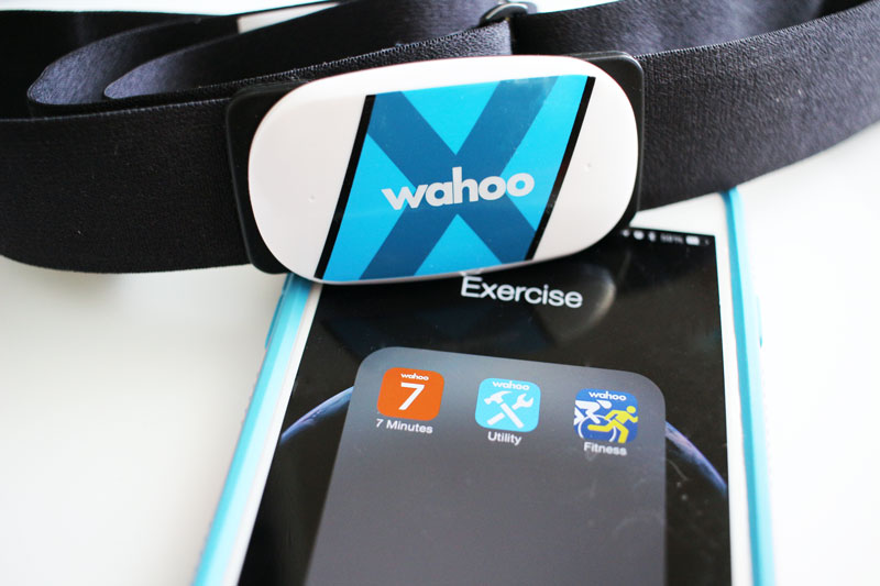 Wahoo 7 minute workout plus Tickr X heart rate monitor chest strap #WahooTICKRX #Wahoo7minApp #Wahooligan