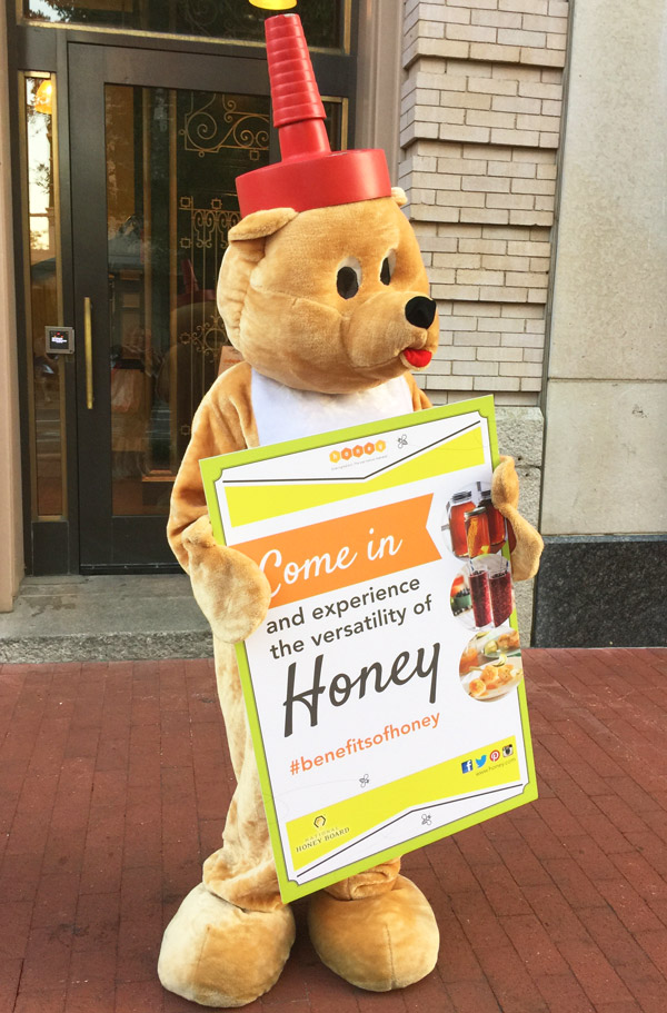 Honey bear outside the event. #benefitsofhoney