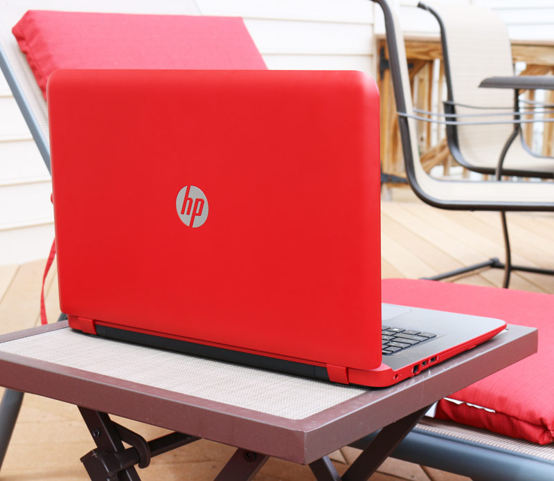 "Bending the summer rules and working outside with my colorful, powerful and simple to use 17"" HP Pavilion notebook. Avialable only from HSN. Free upgrade to Windows 10 (when available.) #HPHuesOnHSN #Win10 #BendTheRules"