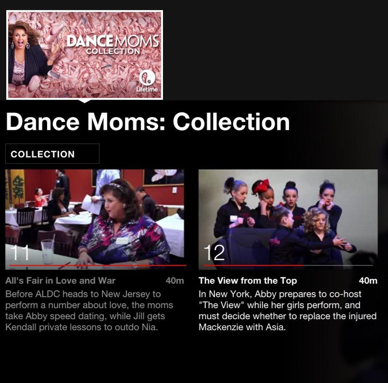 Dance Moms Netflix binging for tween girls. #streamteam