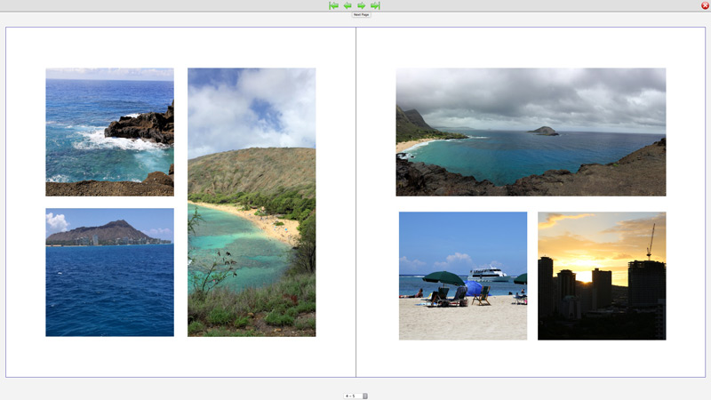 Preview your book in full screen slideshow mode.