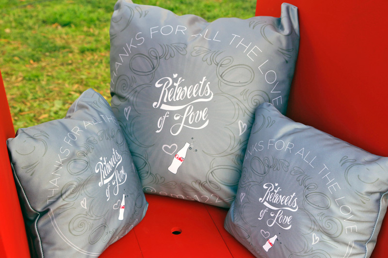 Diet Coke #RetweetsofLove pillows