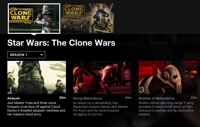 The Clone Wars; 5 binge-worthy shows on Netflix for tween boys. #StreamTeam