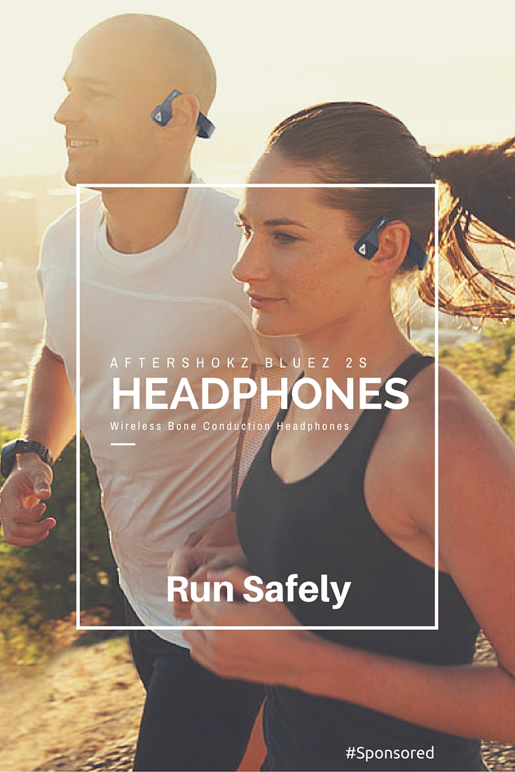 AfterShokz Bluez 2S Wireless Bone Conduction Headphones are perfect for running safely. You can hear the world around you AND your music in both ears. Find out more.