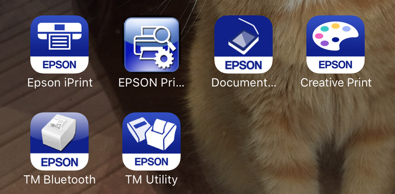Epson's Creative Print App for Android & Apple phones.