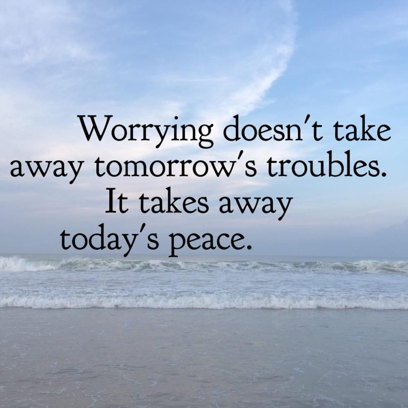 Image result for worrying takes away today's peace