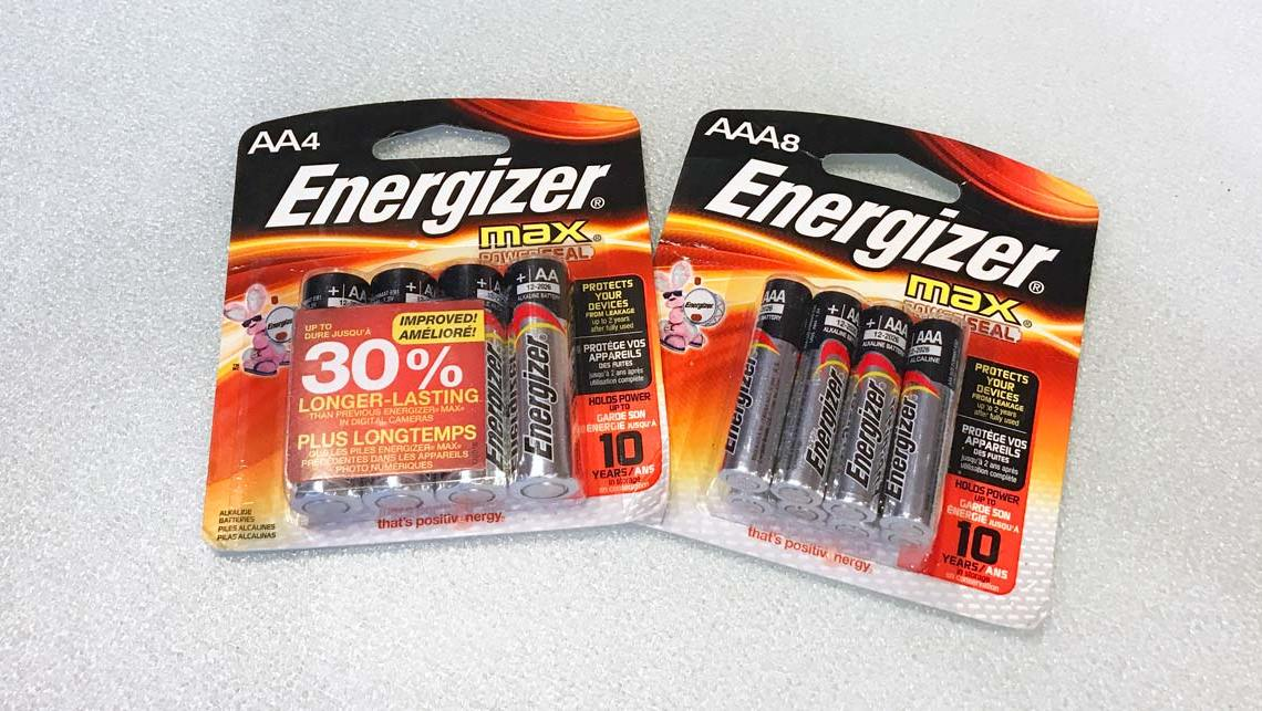 Energizer MAX batteries; Don't forget the batteries when holiday shopping.