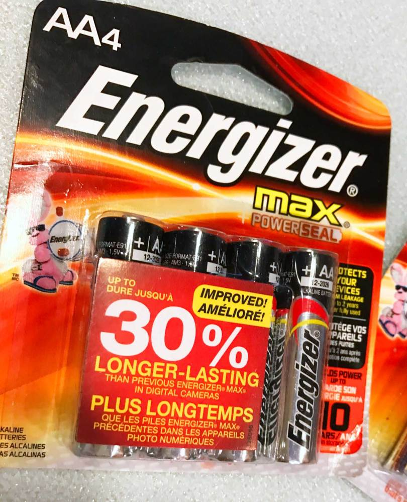 Don't forget the Energizer MAX batteries