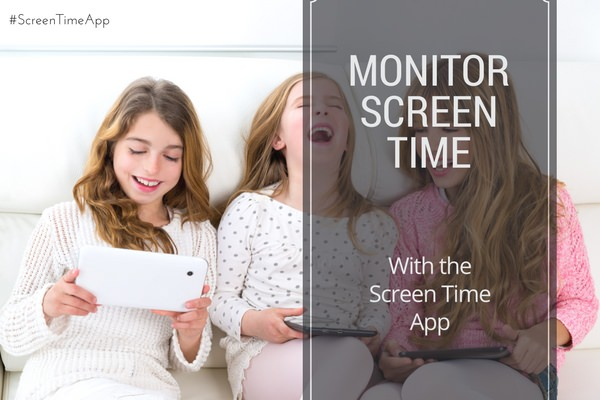 Monitor your kids' screen time with the Screen Time App #ScreenTimeApp