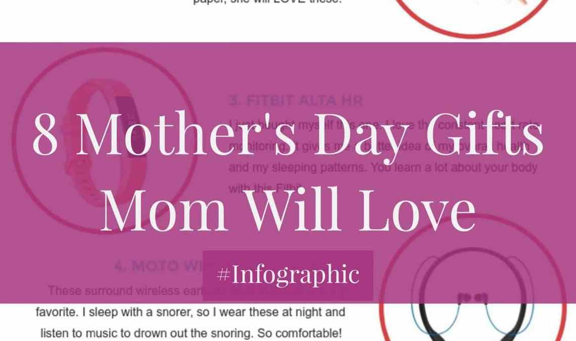 8 Mother's Day Gifts Your Mother Will Love #Infographic