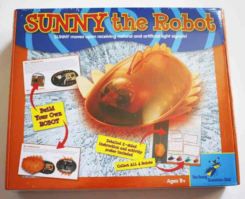 Sunny the Robot. STEM projects for kids is fun and easy to do. Gives kids a basic understanding of how robots work. Sunny is powered by light. The Young Scientists Club offers 4 different versions. Hurle, Sunny, Infra and Metali for kids ages 8 and up.