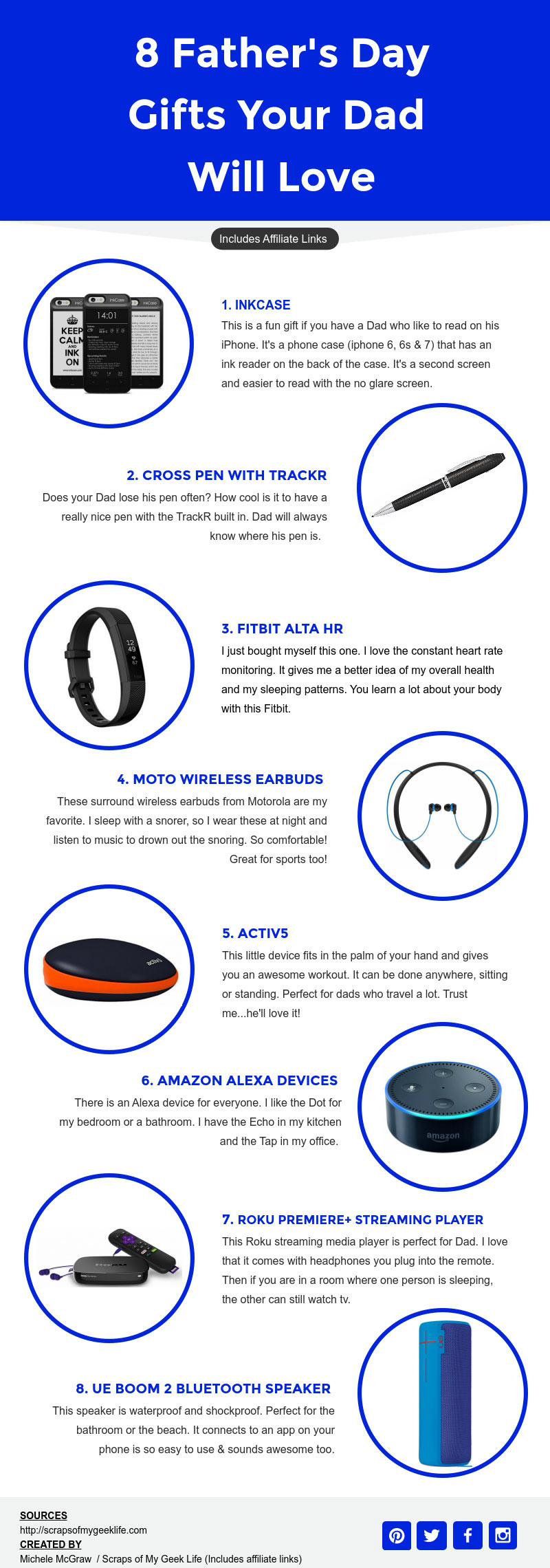 8 Father's Day Gifts Your Dad Will Love #Infographic