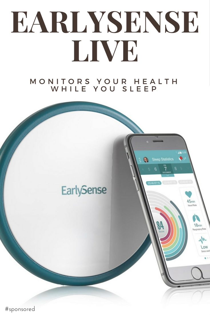EarlySense Live monitors your vitals while you sleep. It's easy to setup and monitors your health. Can be used to monitor a family member from afar too. It's so important to get the proper sleep. It helps your overall health. #EARLYSENSELIVE