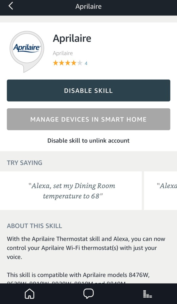 Connect Aprilaire to your Amazon Alexa app to control your thermostat with your voice. #IAQbyAprilaire