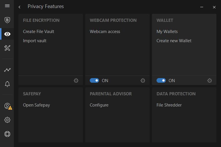 Bitdefender's webcam protection