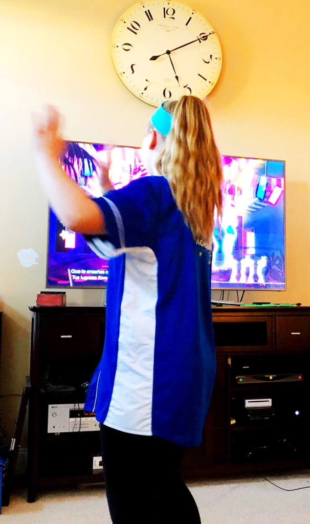 Megan dancing to Despacito on Just Dance 2018